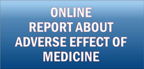 ONLINE report about adverse effect of medicine